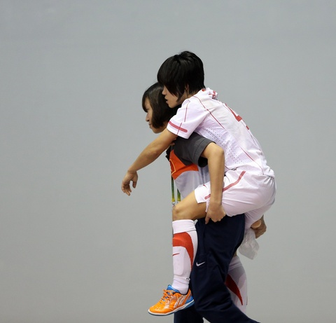 Tuyen futsal nu thua Thai Lan vi yeu tam ly hinh anh