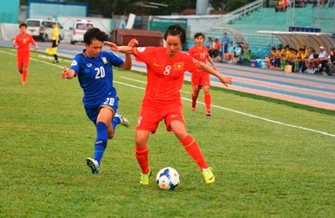 DT nu Viet Nam 1-2 Thai Lan: Vo mong giac mo World Cup hinh anh