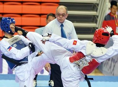 Taekwondo lai mat vang vi trong tai xu ep hinh anh