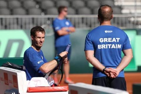 Tu ket Davis Cup 2014: F.Fognini 3-0 A.Murray hinh anh