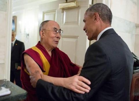 tong thong my gap dalai lama hinh anh