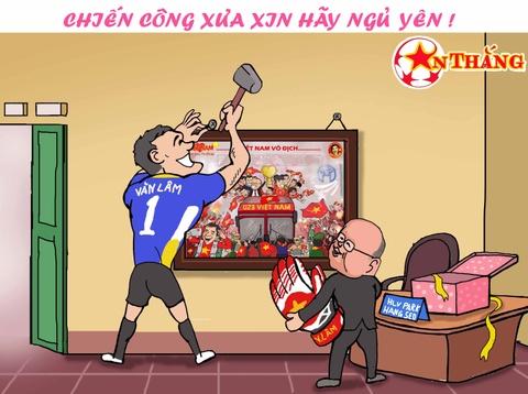 Hi hoa Bui Tien Dung khoc truoc tai nang bay nhay cua Van Lam o U23 VN hinh anh 11