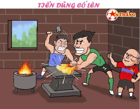 Hi hoa Bui Tien Dung khoc truoc tai nang bay nhay cua Van Lam o U23 VN hinh anh 13