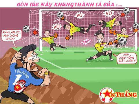 Hi hoa Bui Tien Dung khoc truoc tai nang bay nhay cua Van Lam o U23 VN hinh anh 14