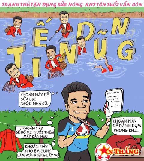 Hi hoa Bui Tien Dung khoc truoc tai nang bay nhay cua Van Lam o U23 VN hinh anh 8