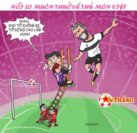 Hi hoa Bui Tien Dung khoc truoc tai nang bay nhay cua Van Lam o U23 VN hinh anh 1