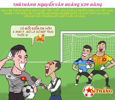 Hi hoa Bui Tien Dung khoc truoc tai nang bay nhay cua Van Lam o U23 VN hinh anh 4