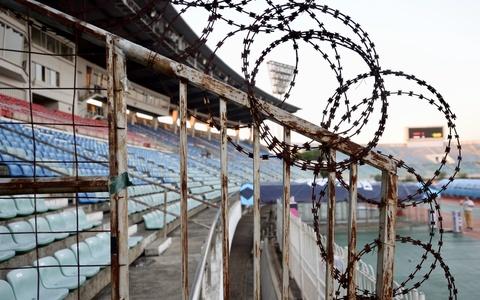 Hàng rào an ninh sân Myanmar sẵn sàng đón tiếp 2.400 CĐV Việt Nam
