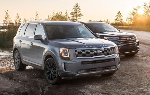 Kia Telluride 2020 dau voi Ford Explorer 2020 - bai binh phuc han hinh anh