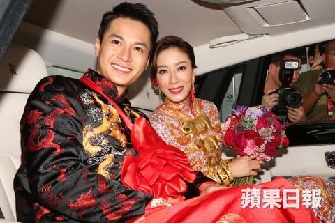 Hoa dan TVB Duong Di deo vang triu tay trong ngay cuoi hinh anh