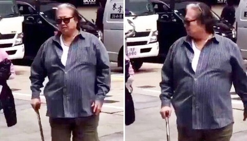 'Vua vo thuat' Hong Kim Bao da phai chong gay khi di tren pho hinh anh