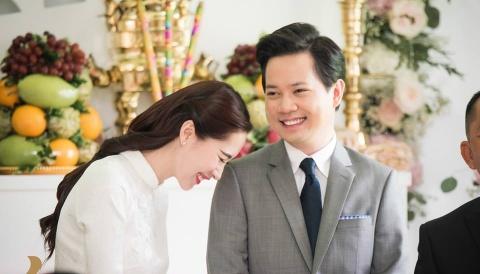Anh hau truong dam hoi Hoa hau Thu Thao va ban trai dai gia hinh anh 7