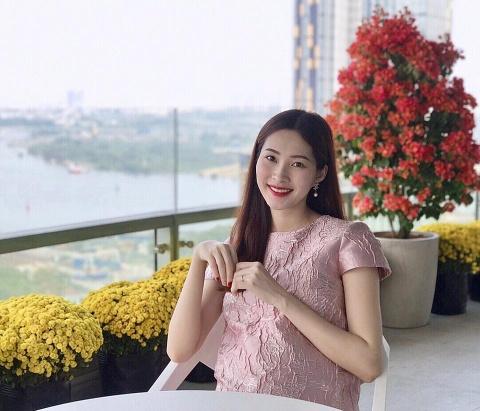 Hoa hau Dang Thu Thao lan dau khoe anh mang bau hinh anh