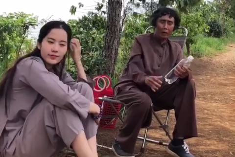 Clip co Thuy 'Binh tinh song' hat tang Nam Em hinh anh