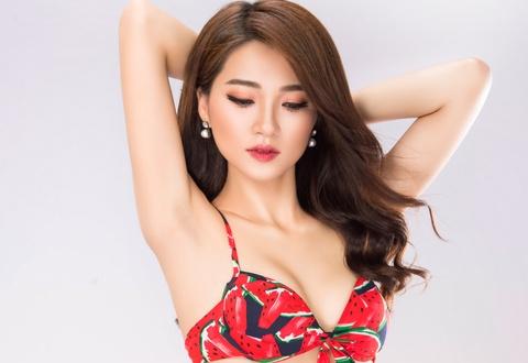 'Guong mat dep nhat' Ngoc Nu dung thi Hoa hau Viet Nam 2018 hinh anh
