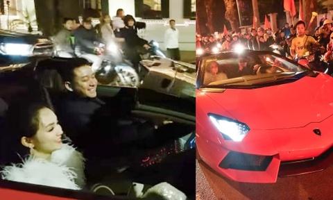 Tuấn Hưng lái siêu xe đi bão mừng Việt Nam vào tứ kết Asian Cup