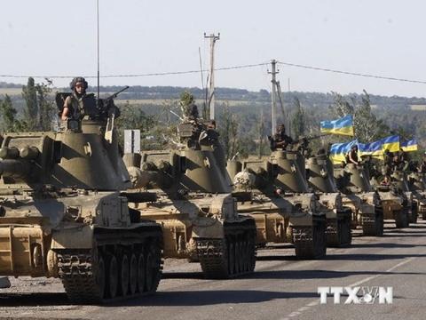 Quan doi Ukraine trong tinh trang bao dong o Mariupol hinh anh