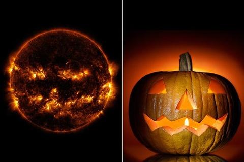 Hinh anh ngo nghinh cua mat troi truoc le hoi Halloween hinh anh
