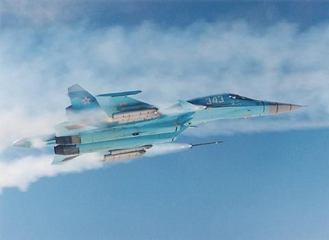 Xe tang bay Su-34 pho dien suc manh hinh anh