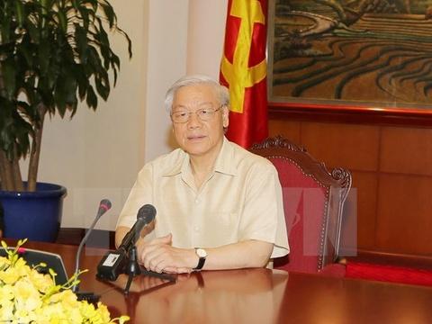 Tong Bi thu Nguyen Phu Trong len duong tham Hoa Ky hinh anh