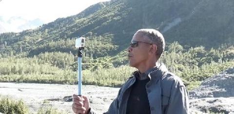 Obama khoe chuyen tham song bang o Alaska bang gay tu suong hinh anh