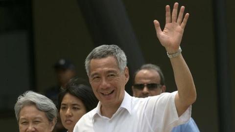 Thu tuong Singapore cong bo noi cac moi hinh anh