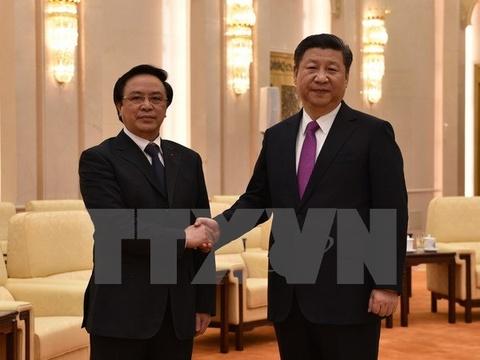 Truong ban Doi ngoai Trung uong hoi kien Chu tich Trung Quoc hinh anh