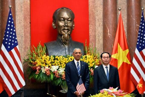 Mot ngay ban ron cua Tong thong Obama o Ha Noi hinh anh 12