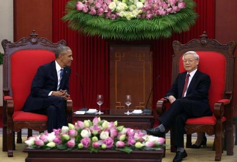 Mot ngay ban ron cua Tong thong Obama o Ha Noi hinh anh 16