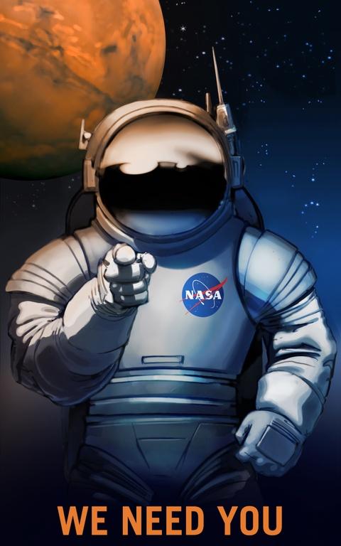 NASA tung poster tuyen nguoi len sao Hoa hinh anh 1