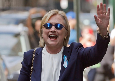 Ba Clinton lan dau chia se ve su co ngat xiu trong le 11/9 hinh anh