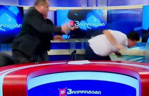 ung cu vien quoc hoi georgia danh nhau hinh anh