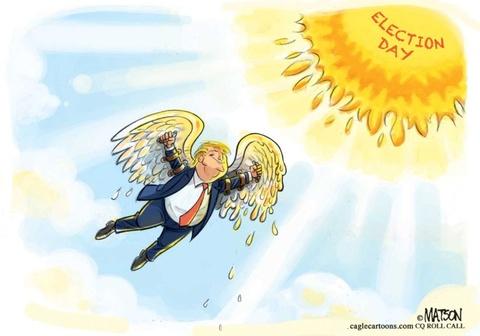 Thien than Trump cat canh trong tranh biem hoa hinh anh 1