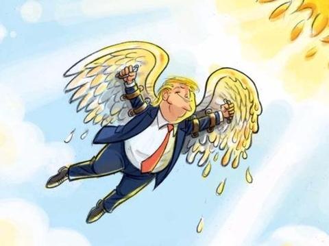 Thien than Trump cat canh trong tranh biem hoa hinh anh