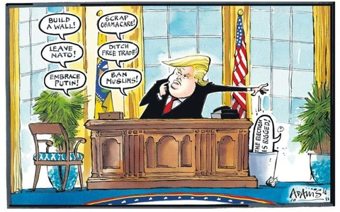 Thien than Trump cat canh trong tranh biem hoa hinh anh 2