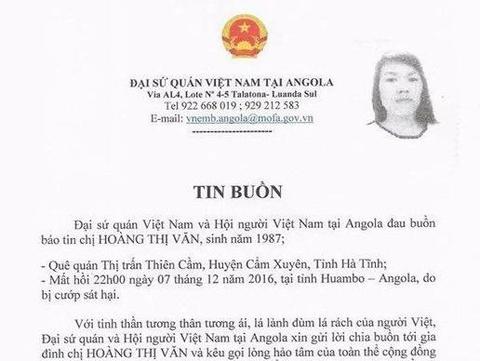 Angola: Cuop tan cong, thieu xac cap vo chong nguoi Viet hinh anh