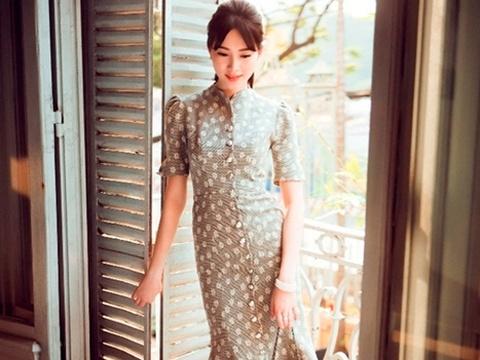 Dang Thu Thao dien mai kieu vay midi khong nham chan hinh anh