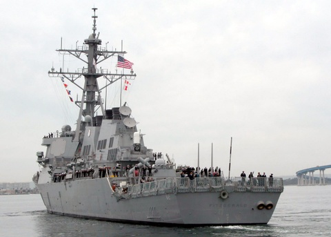 Can canh khu truc ham toi tan USS Fitzgerald cua My hinh anh