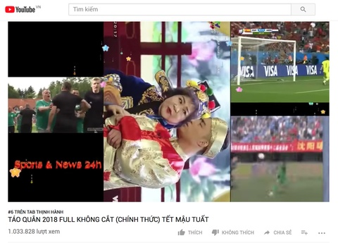YouTube Viet tran lan video Tao quan 2018 gia hinh anh