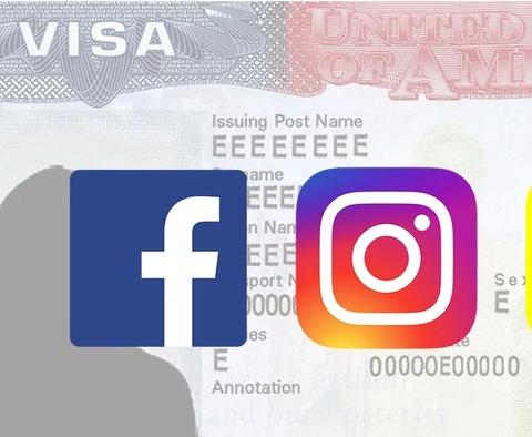 Xin Visa My co the phai cung cap tai khoan Facebook, Instagram hinh anh