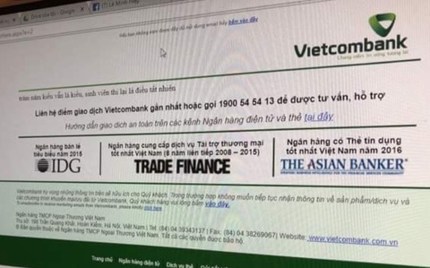 Website Vietcombank hien 2 cau tho che truyen Kieu hinh anh