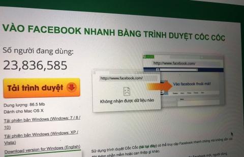 Coc Coc khang dinh khong thu thap du lieu nguoi dung Facebook hinh anh