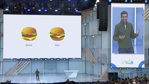 CEO Google xin loi vi thiet ke sai emoji chiec Hamburger hinh anh