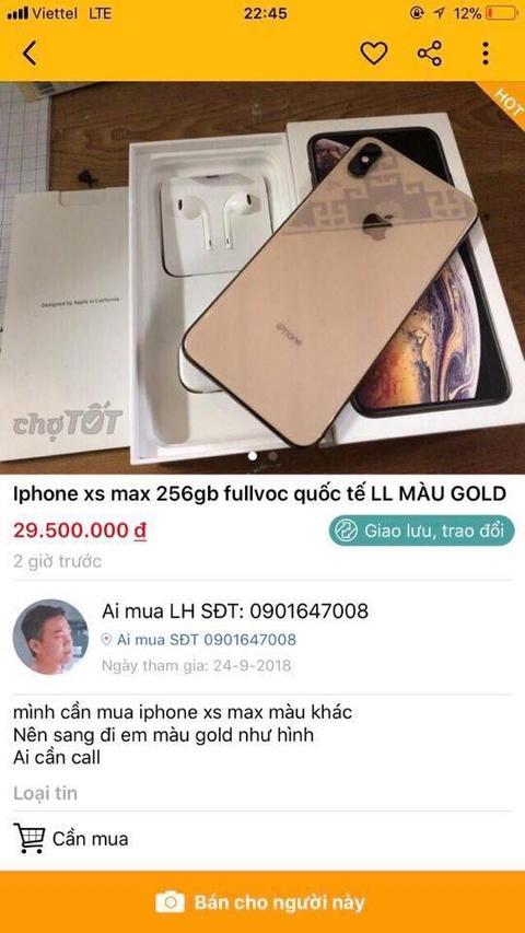Bo 29 trieu mua iPhone XS Max, nhan duoc may mo hinh hinh anh 1