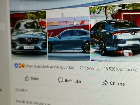 Tro lua tang 99 xe VinFast Lux A 2.0 xuat hien tren Facebook hinh anh