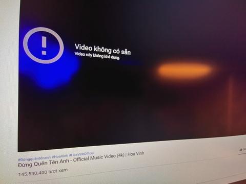 Kênh YouTube trên trăm triệu lượt xem của Hoa Vinh biến mất
