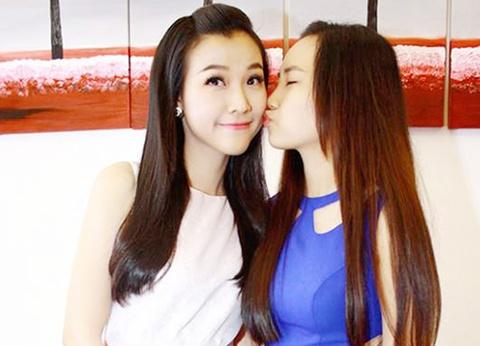 Hoang Oanh lan dau khoe em gai xinh nhu hot girl hinh anh