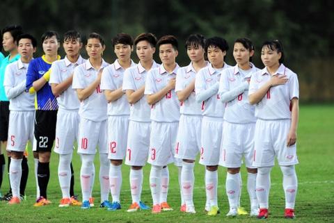 Tuyen nu Viet Nam an mung nhe nhang khi thang Syria 11-0 hinh anh 1