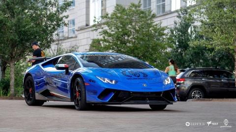 Lamborghini Huracan Performante chay rui sau hanh trinh GoldRush Rally hinh anh