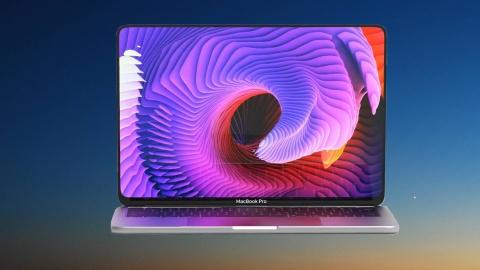 Ban dung MacBook Pro voi man hinh OLED tran vien, ho tro Face ID hinh anh